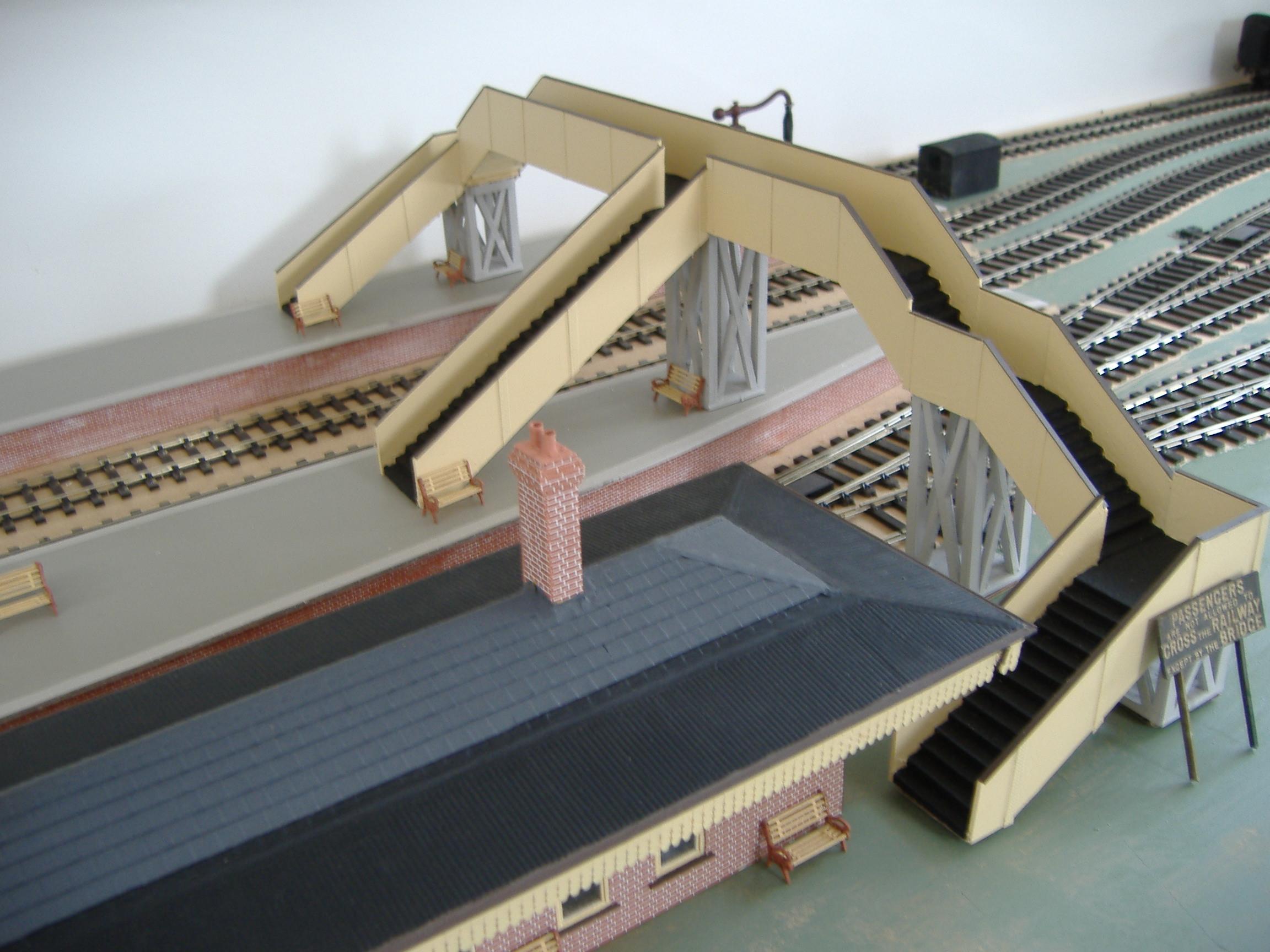 Gwr Station Building Footbridge And Platforms G R Penzer