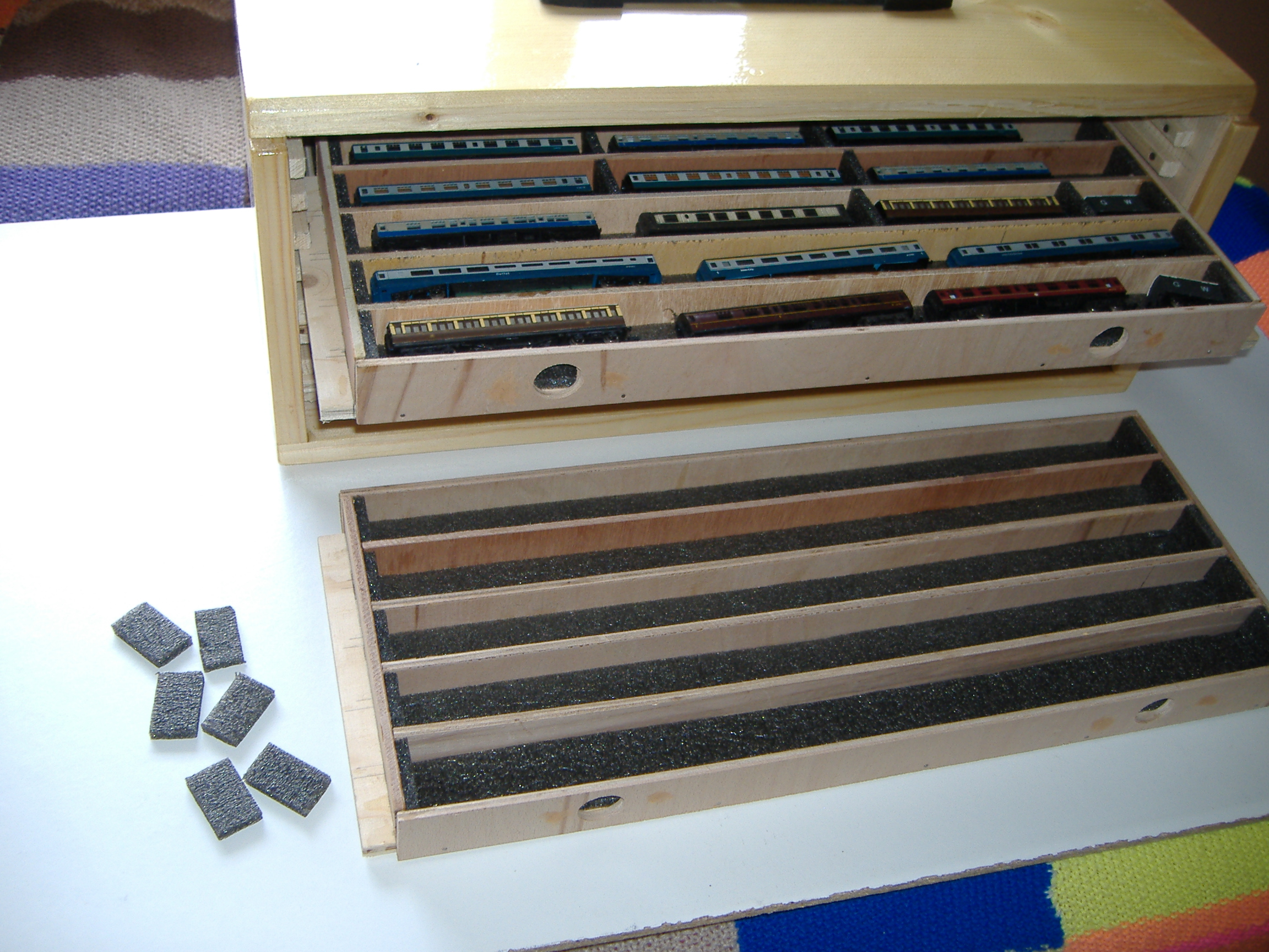 N Gauge Carry Storage Case G R Penzer O Gauge Model